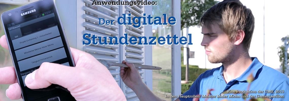 Anwendungsvideo: Der digitale Stundenzettel